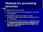 methods for preventing terrorism