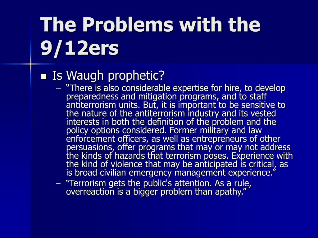 The Problems with the 9/12ers