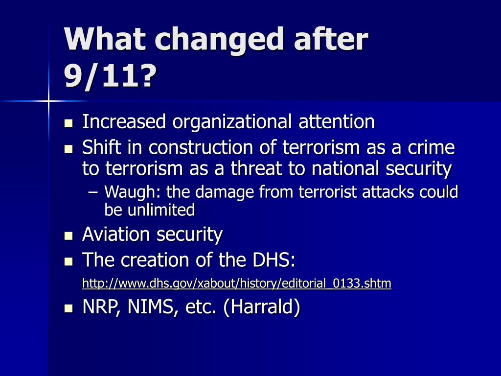 What changed after 9/11?
