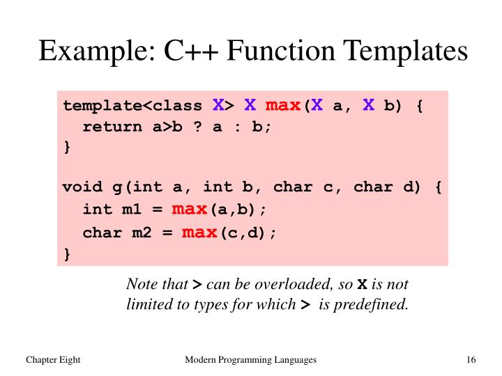Example: C++ Function Templates