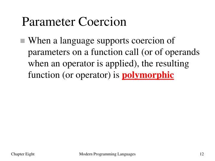 Parameter Coercion