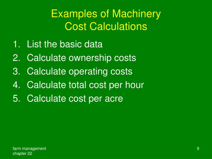 Examples of Machinery