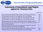 instruments of international legal regime against int terrorism cont