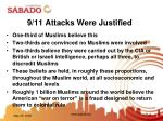 9 11 attacks were justified