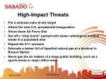 high impact threats