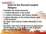islam is the second largest religion