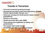 trends in terrorism