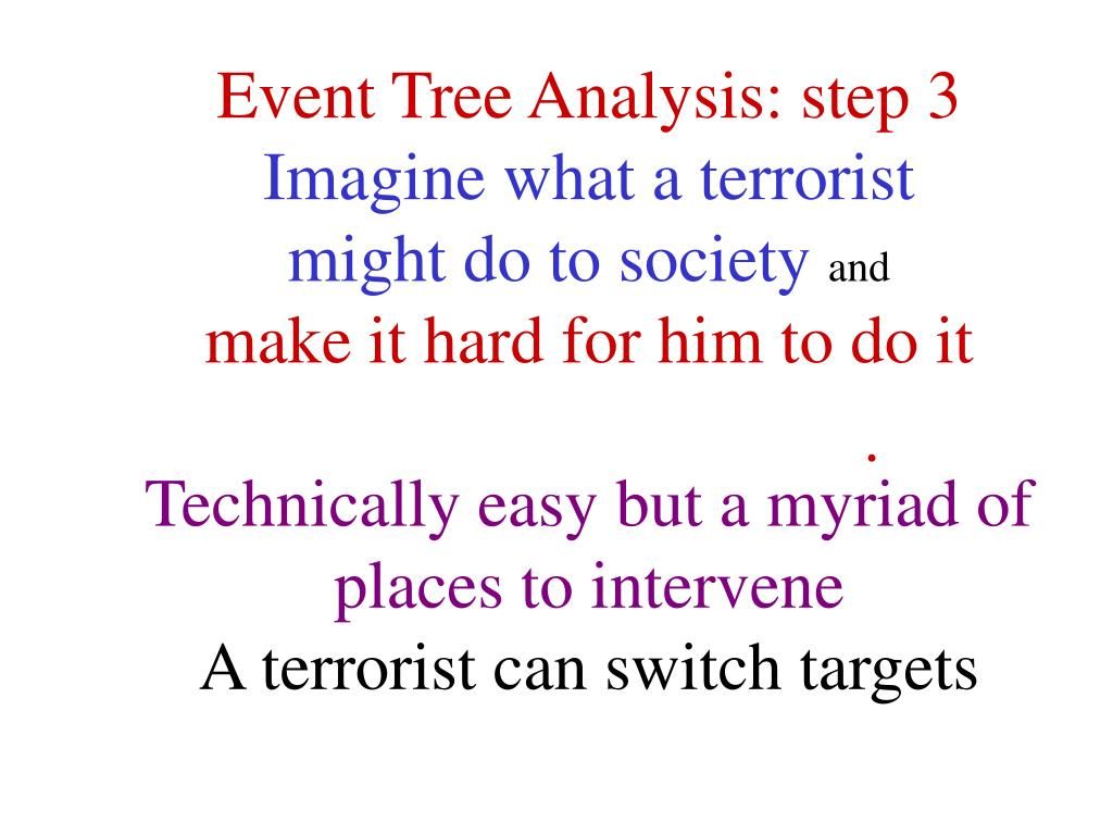 Event Tree Analysis: step 3