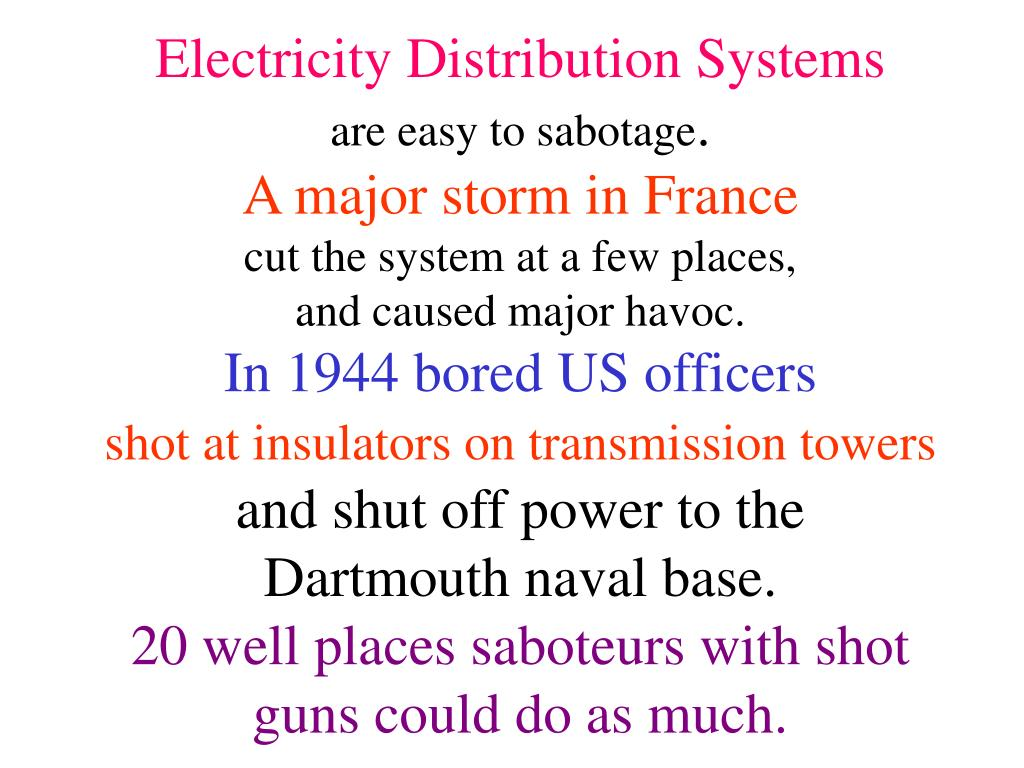 Electricity Distribution Systems