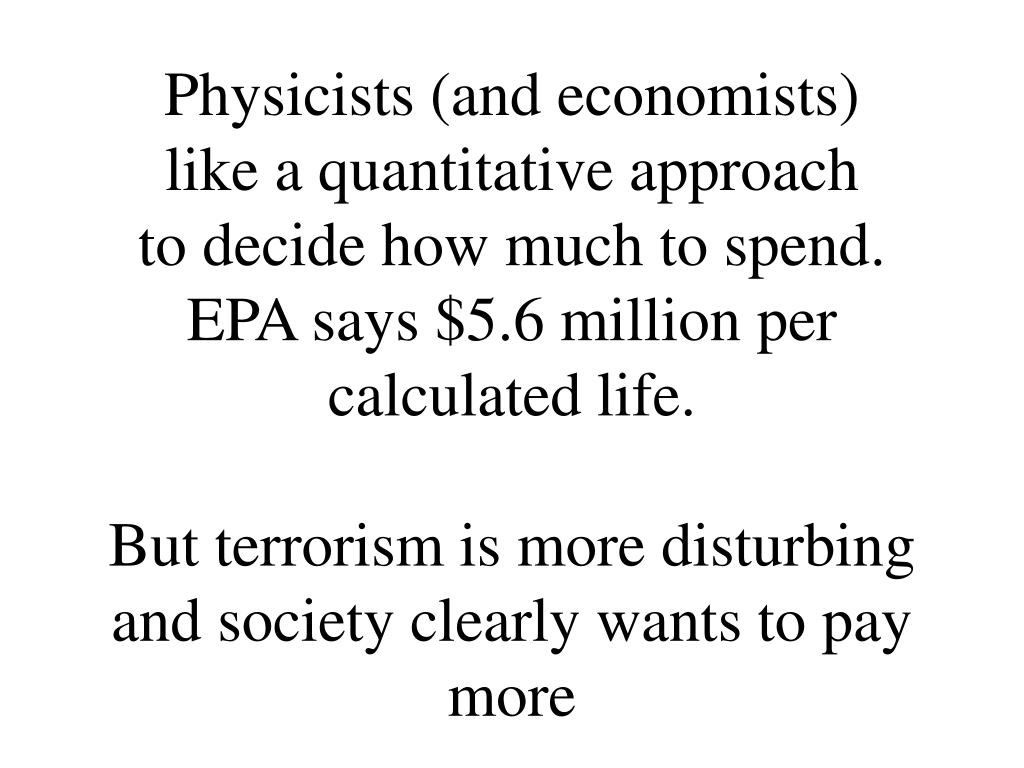 Physicists (and economists)