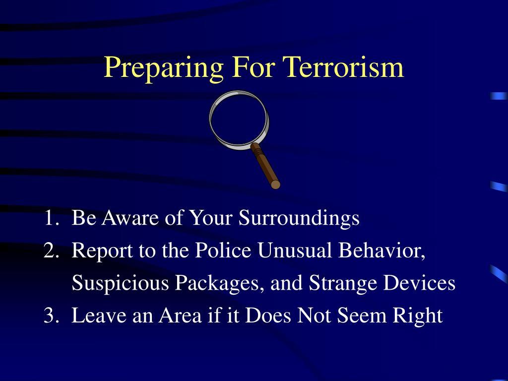 Preparing For Terrorism