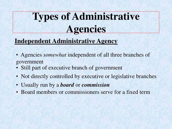 types of administration