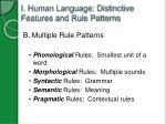 i human language distinctive features and rule patterns2