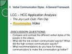 ii verbal communication styles a general framework1