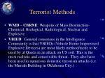 terrorist methods