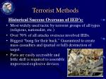 terrorist methods12