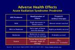 adverse health effects acute radiation syndrome prodrome11