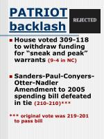 patriot backlash30
