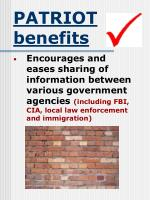 patriot benefits