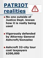patriot realities