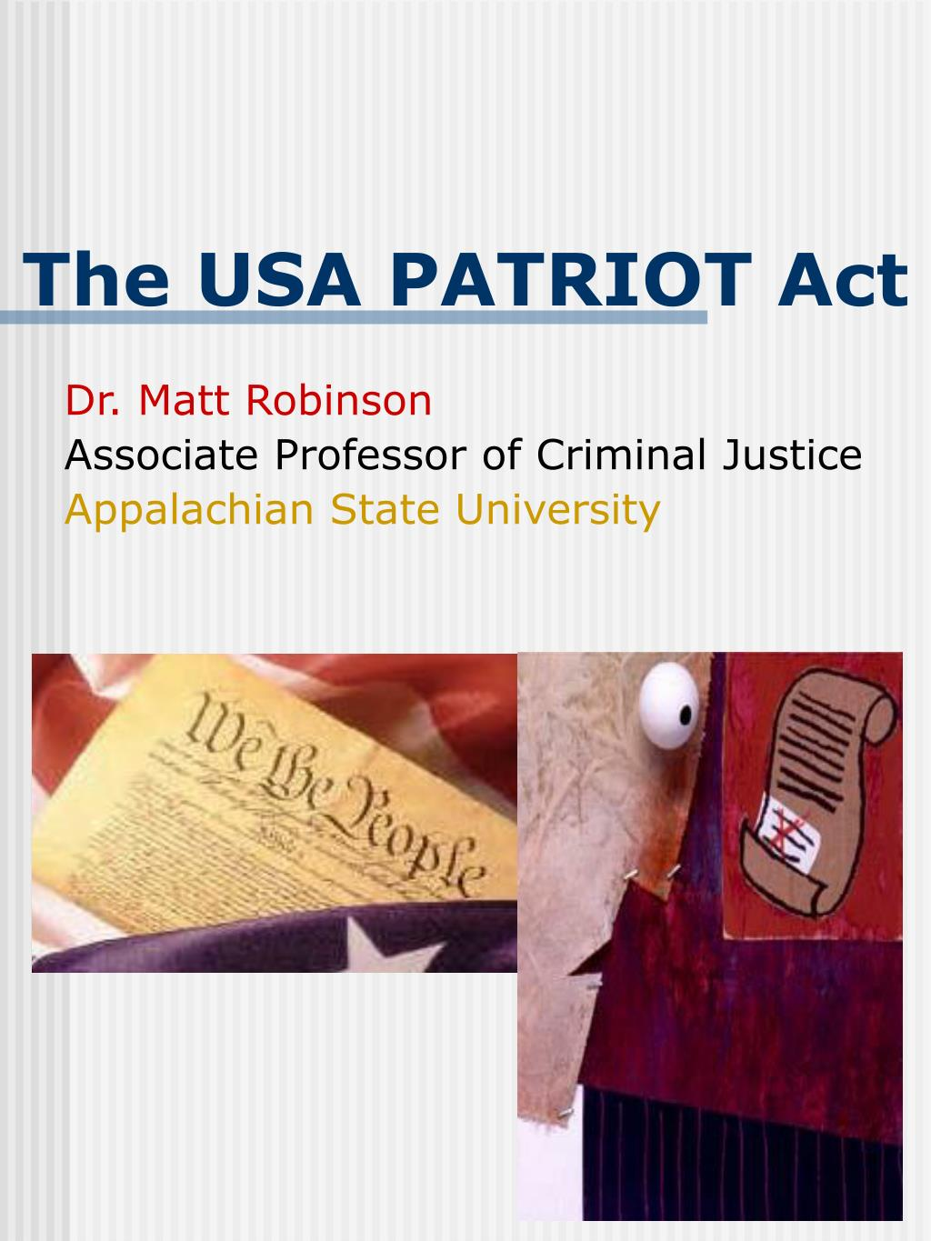 the usa patriot act l.