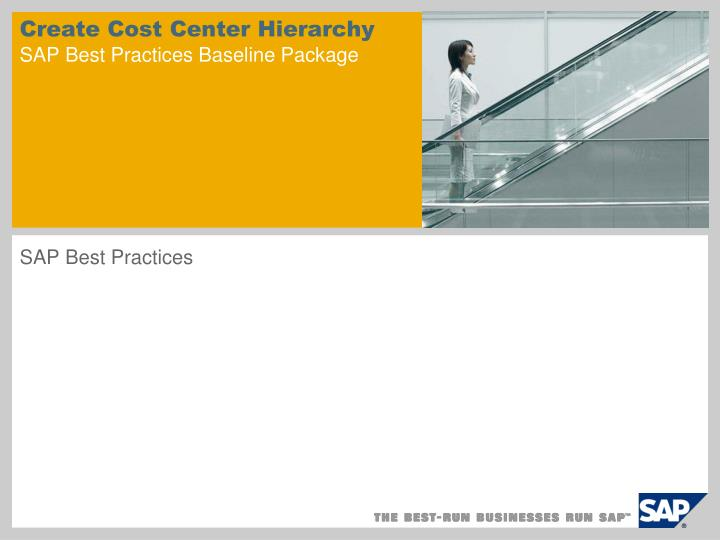 create cost center hierarchy sap best practices baseline package n.