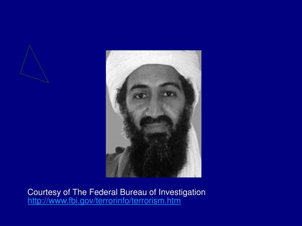 Courtesy of The Federal Bureau of Investigation