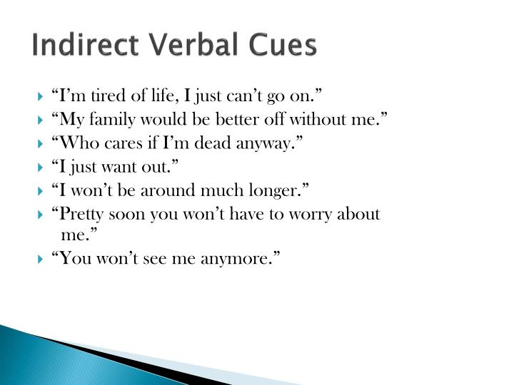 Indirect Verbal Cues