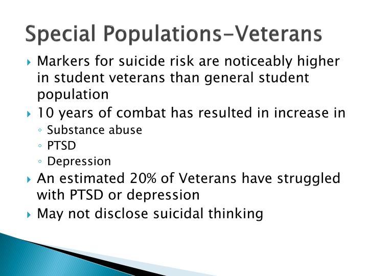 Special Populations-Veterans