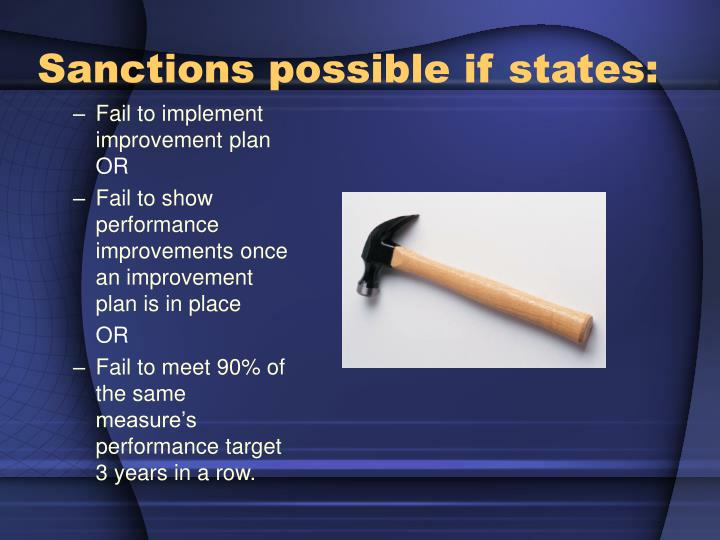 Sanctions possible if states: