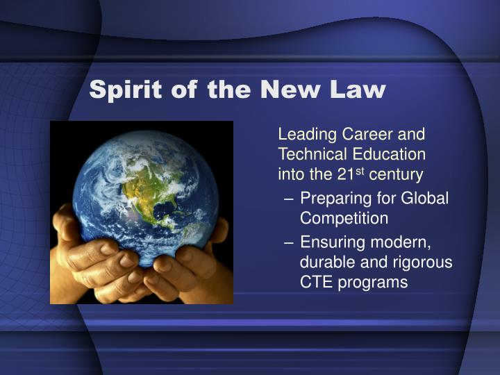 Spirit of the New Law