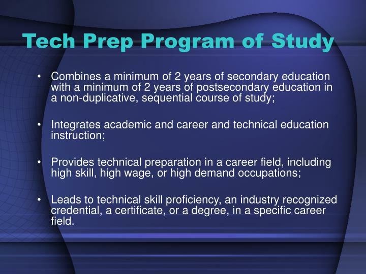 Tech Prep Program of Study