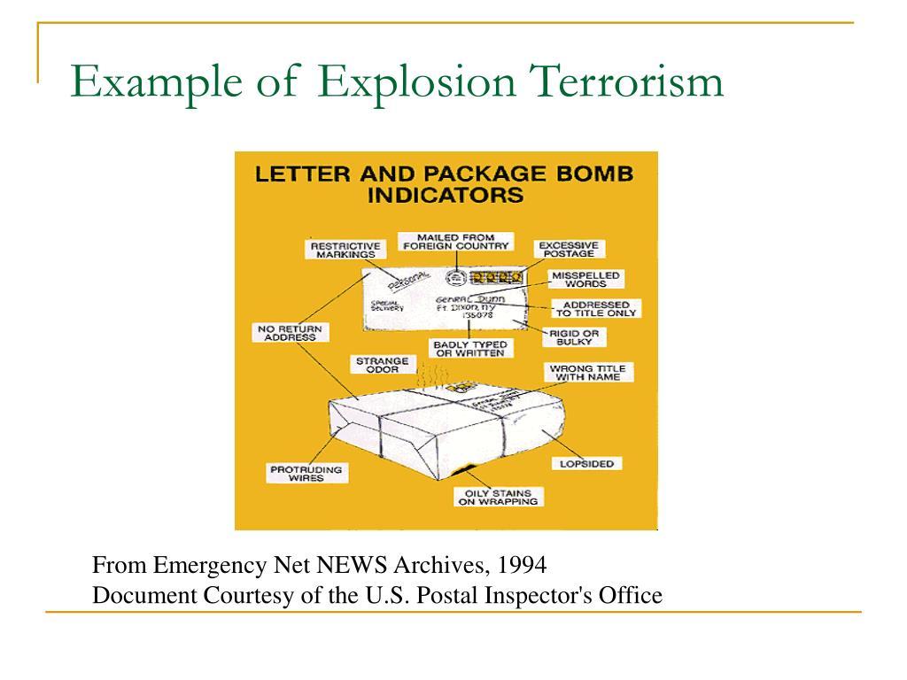 Example of Explosion Terrorism