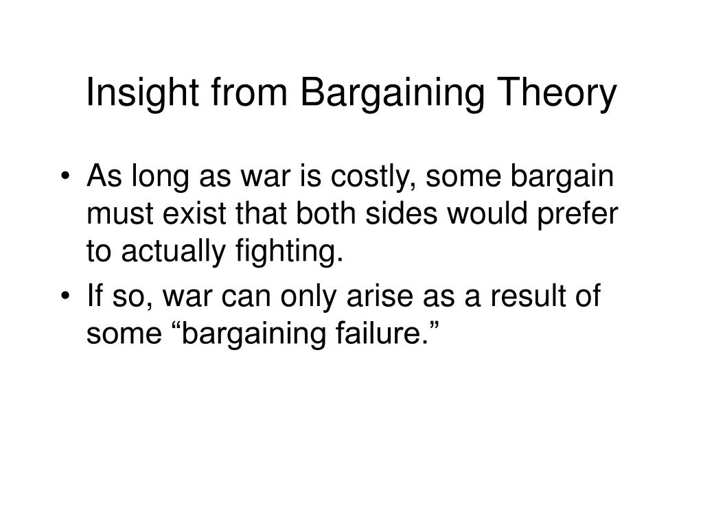 Insight from Bargaining Theory