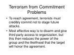 terrorism from commitment problems