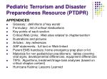 pediatric terrorism and disaster preparedness resource ptdpr6