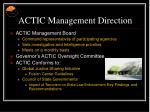 actic management direction