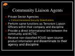 community liaison agents