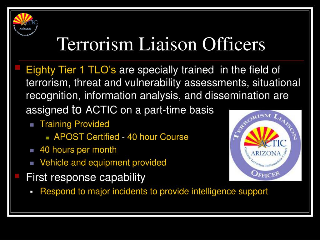 Terrorism Liaison Officers