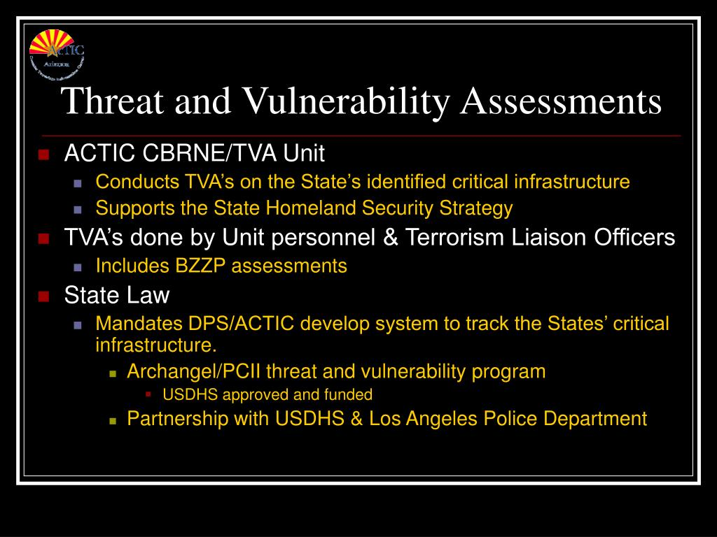 Threat and Vulnerability Assessments