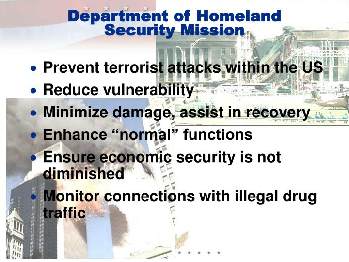 Department of homeland security mission
