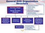general dhs organization structure