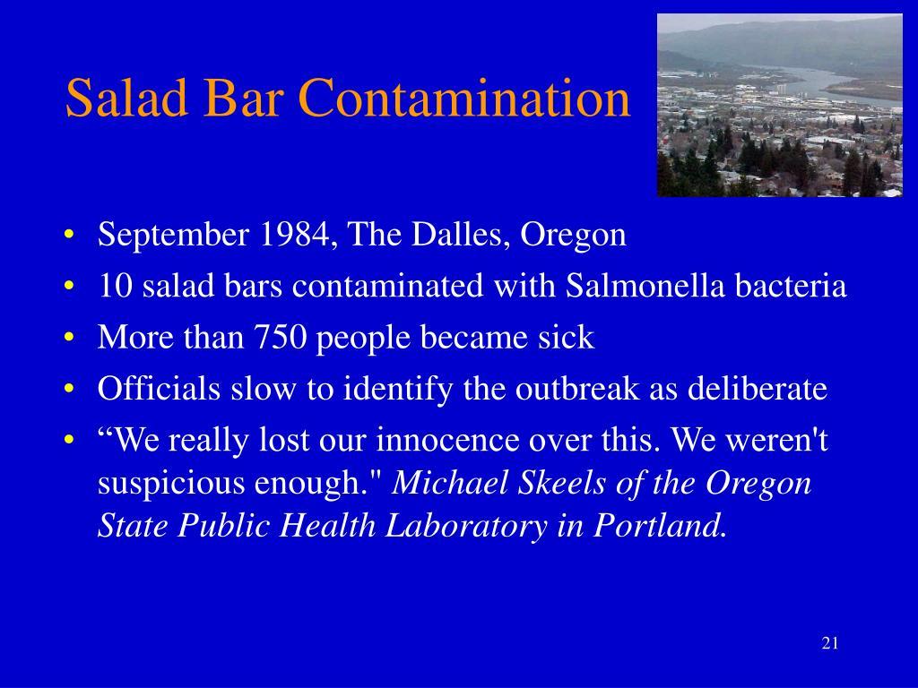 Salad Bar Contamination