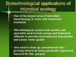 biotechnological applications of microbial ecology
