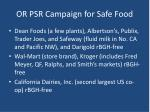 or psr campaign for safe food38