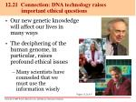12 21 connection dna technology raises important ethical questions