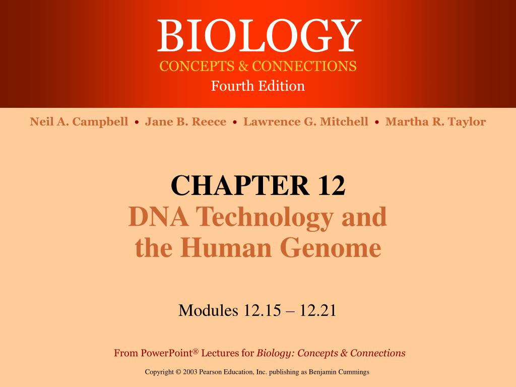chapter 12 dna technology and the human genome l.