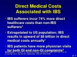 direct medical costs associated with ibs