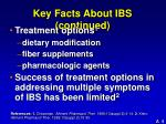 key facts about ibs continued