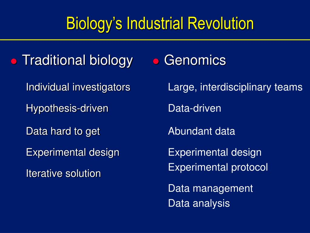 Traditional biology